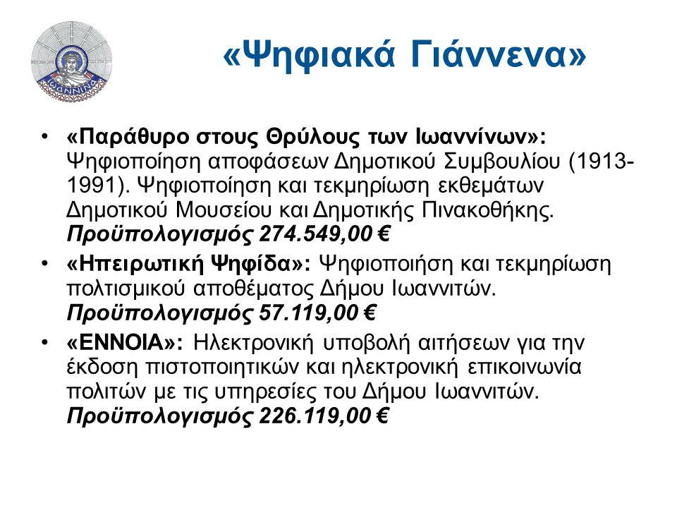 «Παράθυρο στους Θρύλους των Ιωαννίνων»: Ψηφιοποίηση αποφάσεων Δημοτικού Συμβουλίου (1913- 1991).