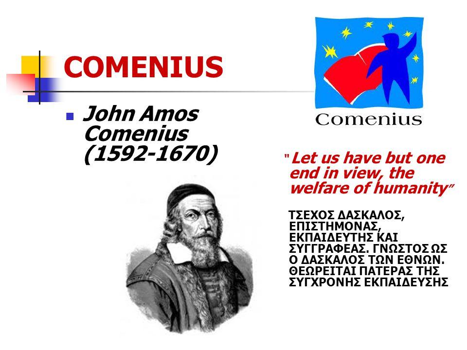 COMENIUS Συμπράξεις Comenius Πολυμερείς Σχολικές Συμπράξεις Comenius Διμερείς Σχολικές Συμπράξεις Comenius Συμπράξεις Comenius Regio Ατομική Κινητικότητα Μαθητών Comenius