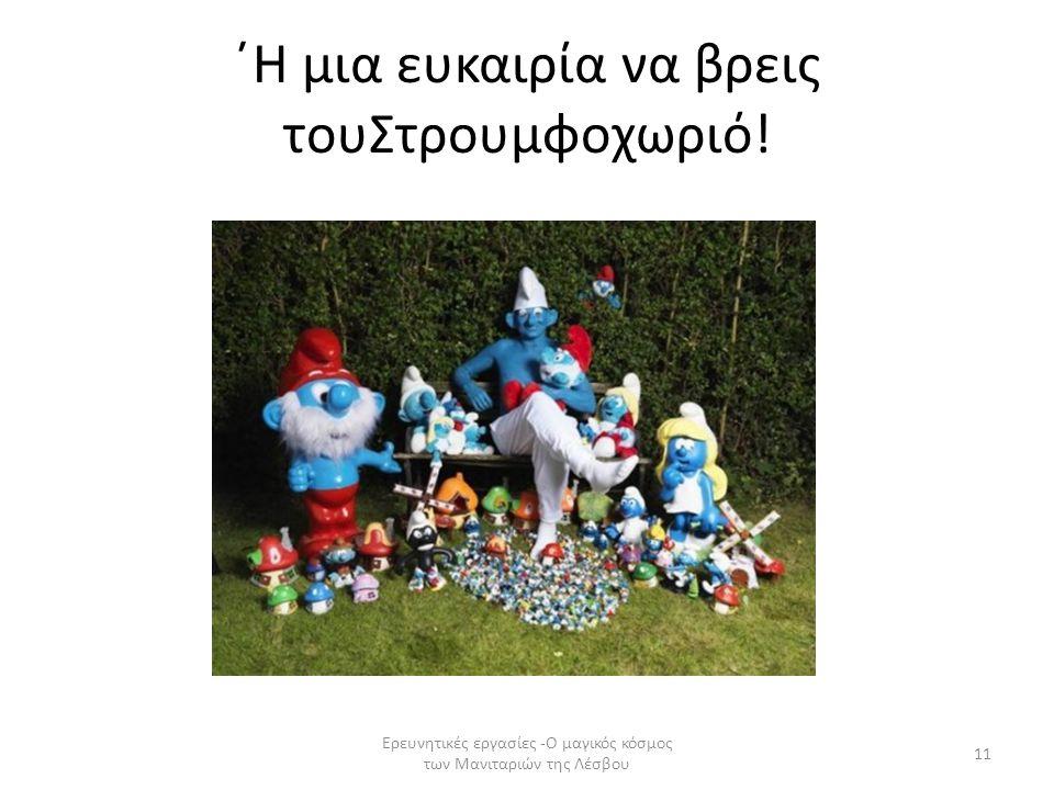 ΄Η μια ευκαιρία να βρεις τουΣτρουμφοχωριό! 11 Ερευνητικές εργασίες -Ο μαγικός κόσμος των Μανιταριών της Λέσβου