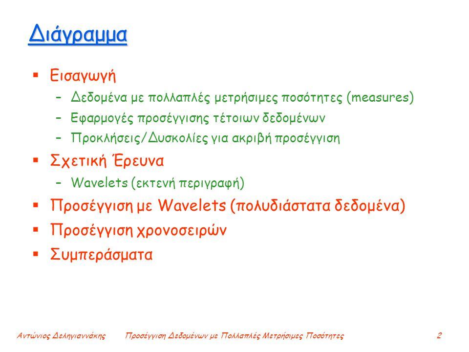 Αντώνιος ΔεληγιαννάκηςΠροσέγγιση Δεδομένων με Πολλαπλές Μετρήσιμες Ποσότητες2 Διάγραμμα  Εισαγωγή –Δεδομένα με πολλαπλές μετρήσιμες ποσότητες (measur