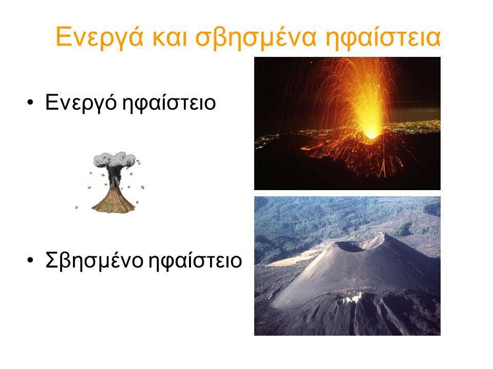 Ενεργά και σβησμένα ηφαίστεια Ενεργό ηφαίστειο Σβησμένο ηφαίστειο