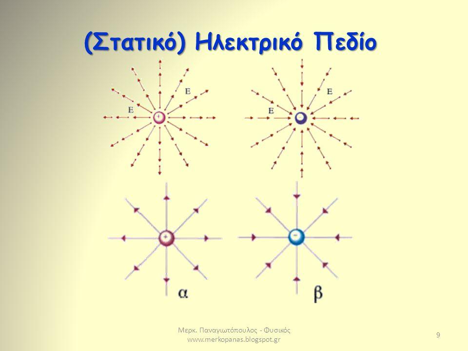 Μερκ. Παναγιωτόπουλος - Φυσικός www.merkopanas.blogspot.gr 9 (Στατικό) Ηλεκτρικό Πεδίο