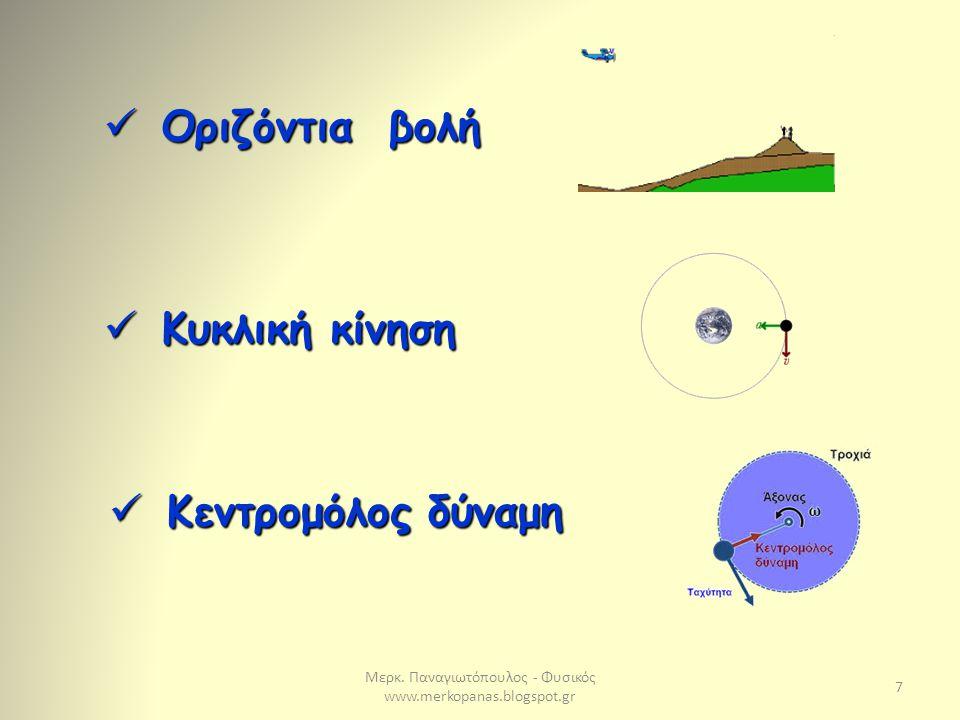 Μερκ. Παναγιωτόπουλος - Φυσικός www.merkopanas.blogspot.gr 8 Διατήρηση της Ορμής