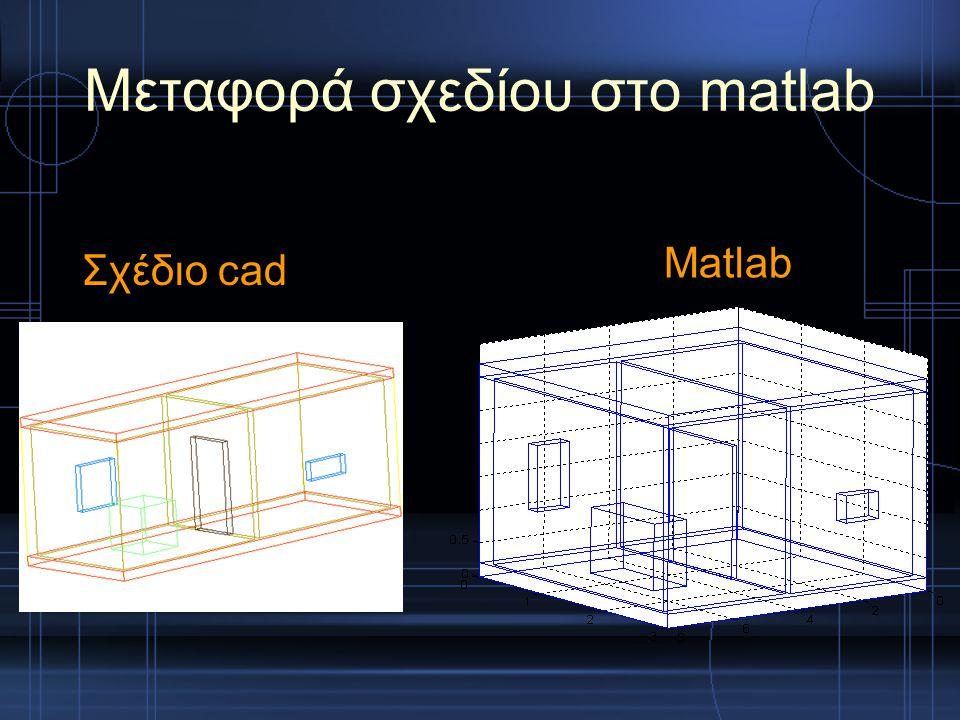 Μεταφορά σχεδίου στο matlab Σχέδιο cad Matlab