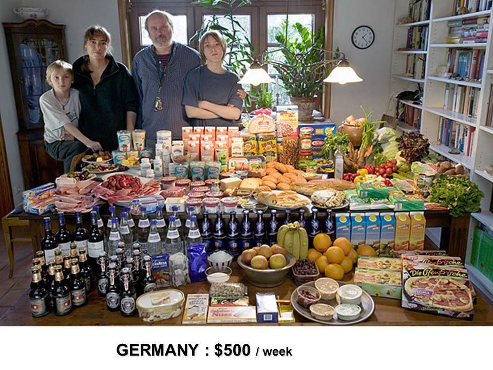 GERMANY : $500 / week