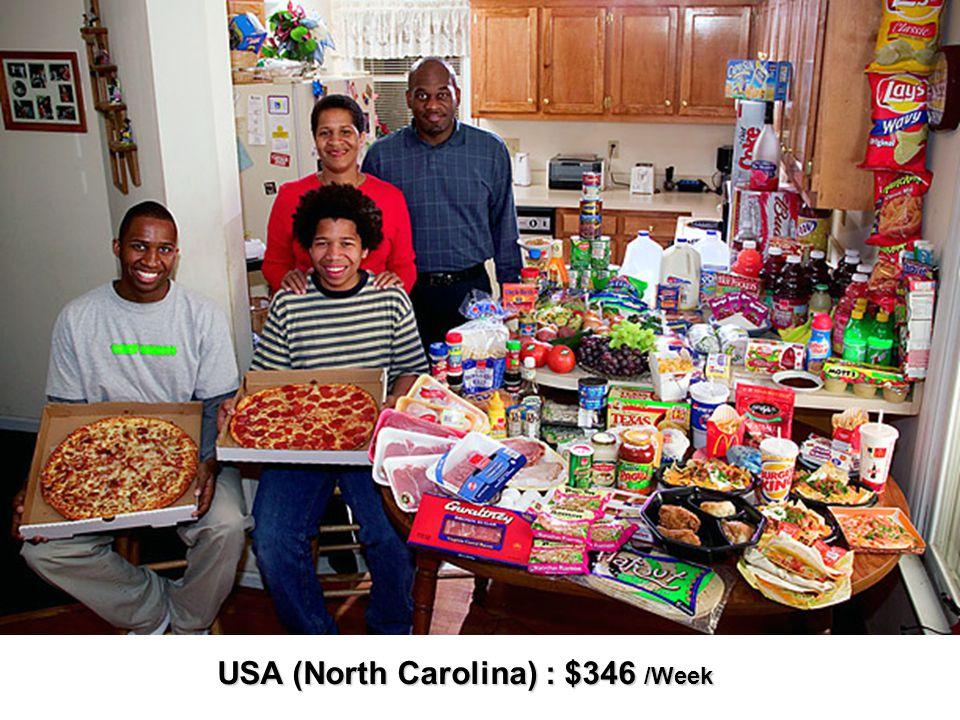 USA (North Carolina) : $346 /Week