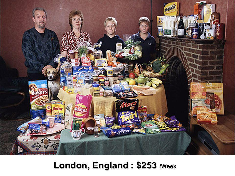 London, England : $253 /Week