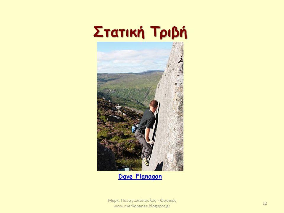 Μερκ. Παναγιωτόπουλος - Φυσικός www.merkopanas.blogspot.gr 12 Στατική Τριβή Dave Flanagan