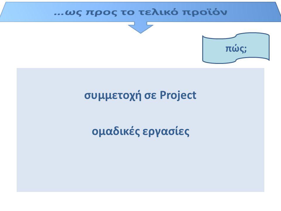 συμμετοχή σε Project ομαδικές εργασίες πώς;