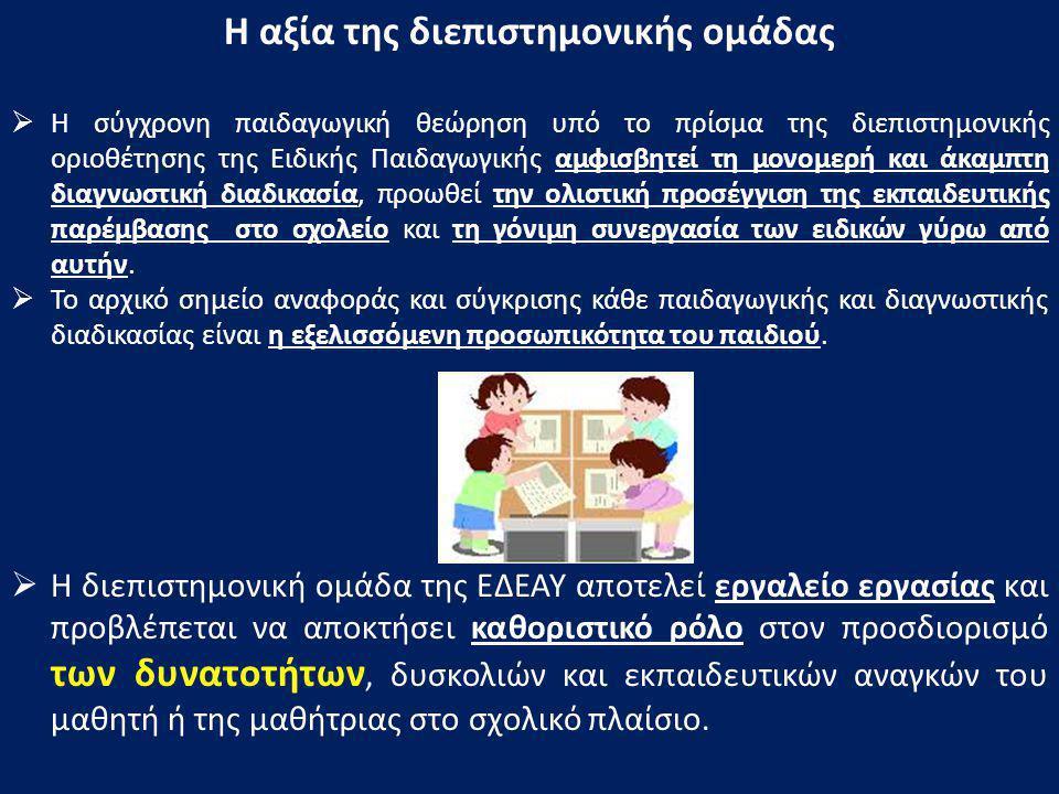«Οδηγός Πλοήγησης της ΕΔΕΑΥ» επιστημονική δεοντολογία δεξιότητες συνεργασίας δεξιότητες επικοινωνίας αλληλοσεβασμός γόνιμη αλληλεπίδραση έγκυρη διάγνωσησύνθεση εκπαιδευτικής παρέμβασης
