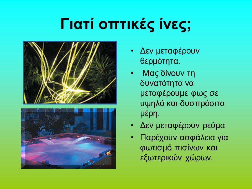 Οι οπτικές ίνες μεταδίδουν φως μέσω παλμών.