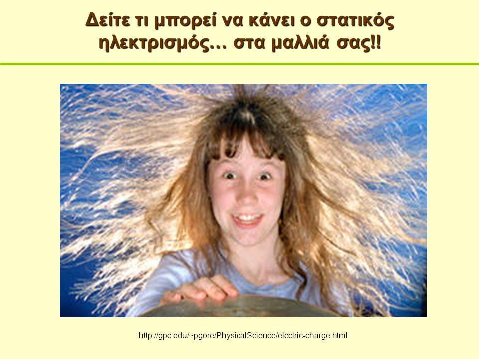 Δείτε τι μπορεί να κάνει ο στατικός ηλεκτρισμός… στα μαλλιά σας!! http://gpc.edu/~pgore/PhysicalScience/electric-charge.html