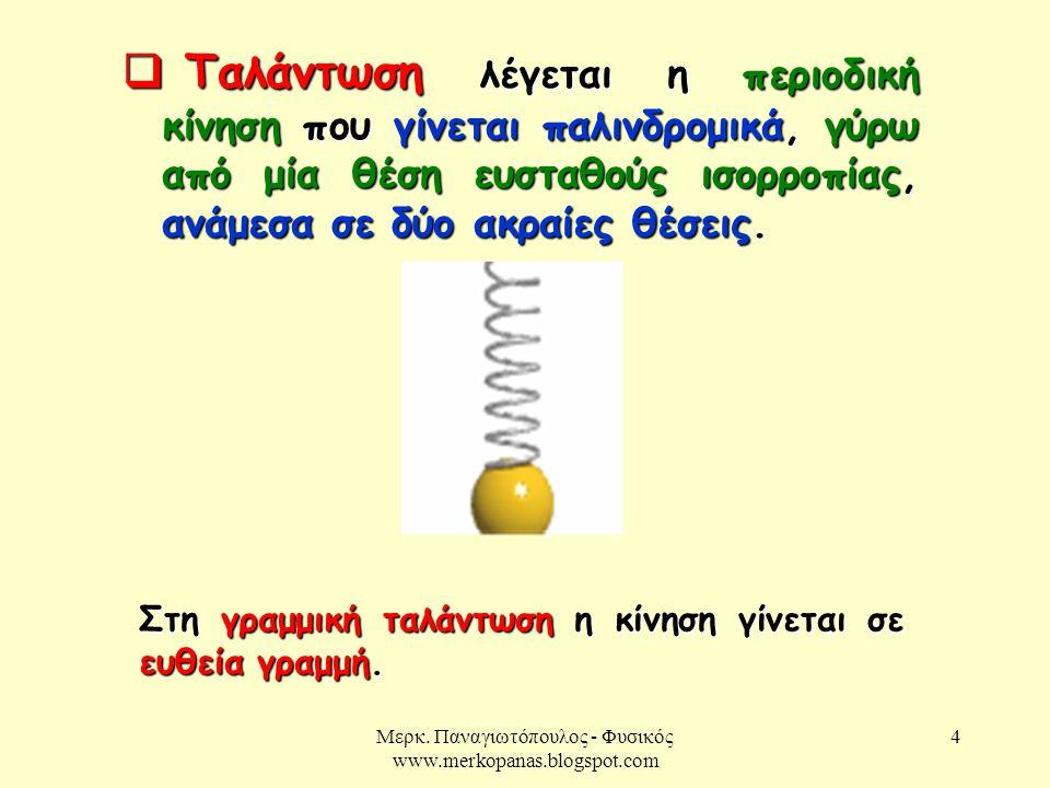 Μερκ.Παναγιωτόπουλος - Φυσικός www.merkopanas.blogspot.com 5 Για να εκτελεί ένα σύστημα Α.Α.Τ.