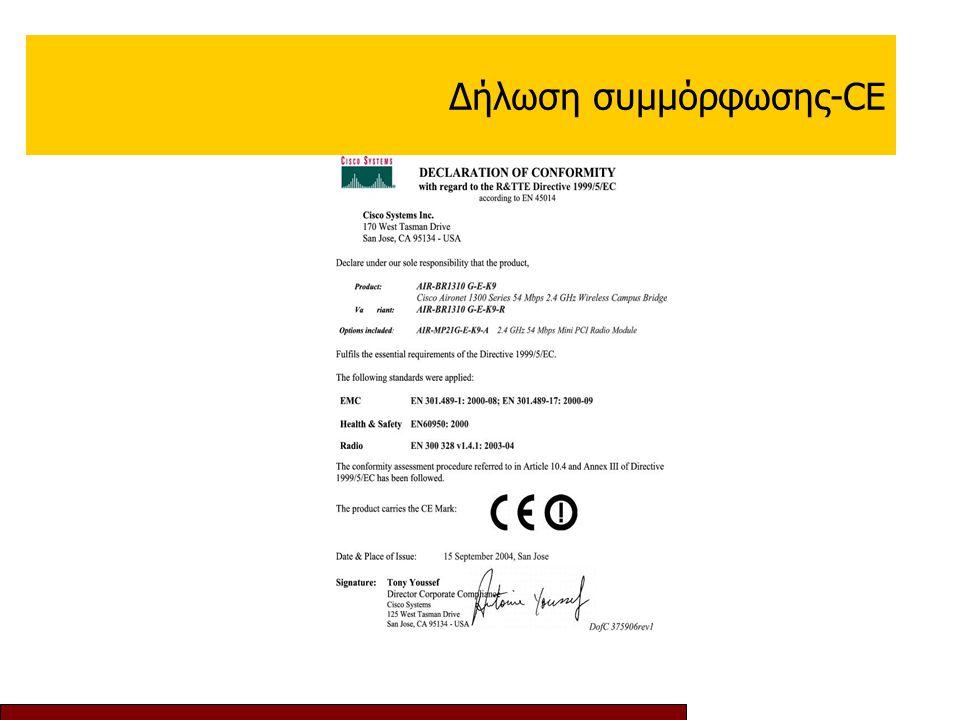 Δήλωση συμμόρφωσης-CE