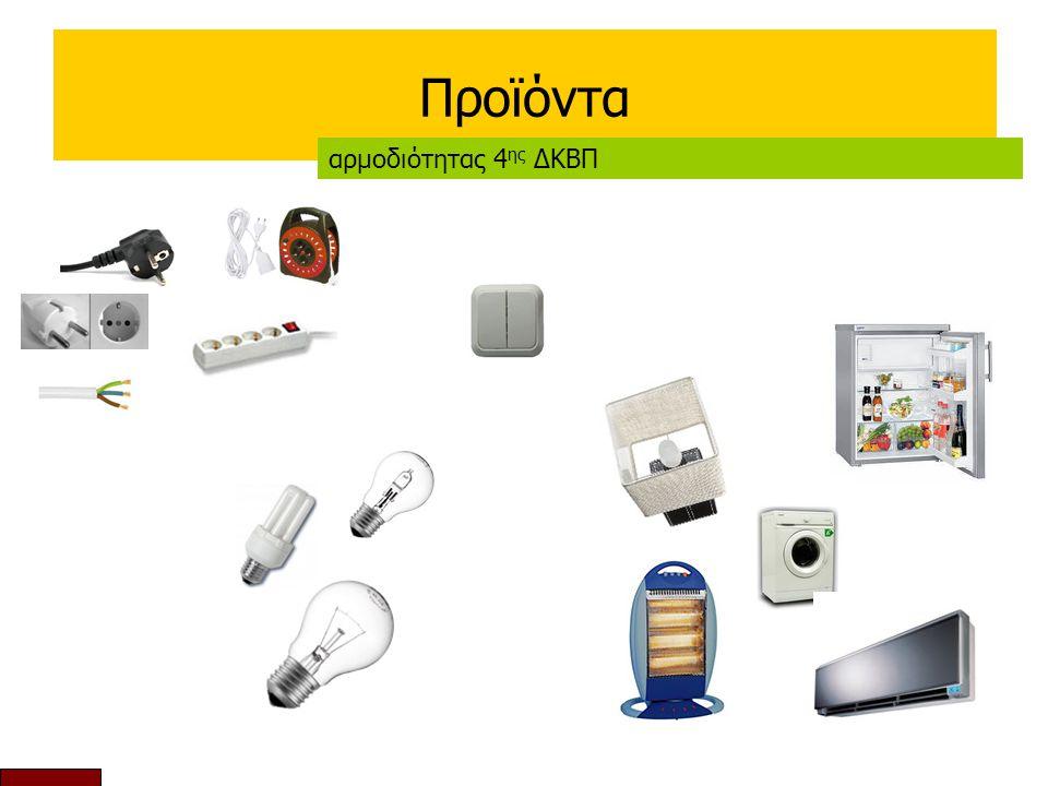 Προϊόντα αρμοδιότητας 4 ης ΔΚΒΠ