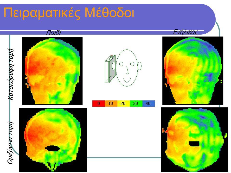 Κατακόρυφη τομή Οριζόντια τομή [db] Παιδί Ενήλικας Πειραματικές Μέθοδοι