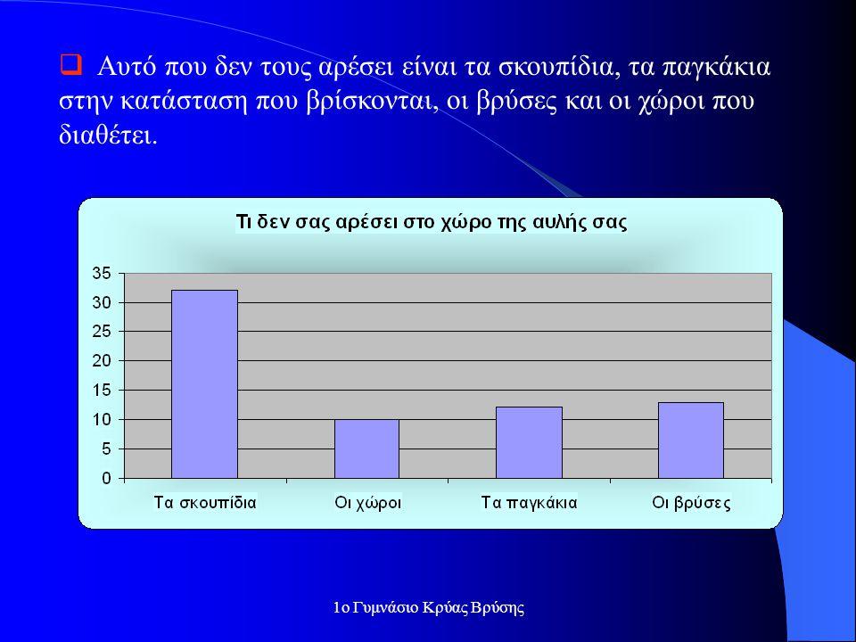 1ο Γυμνάσιο Κρύας Βρύσης Συμπεράσματα από τα ερωτηματολόγια που απευθύνονταν σε μαθητές:  Στην υπάρχουσα κατάσταση αρέσουν περισσότερο στους μαθητές