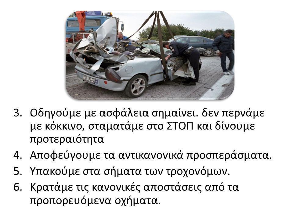 3.Οδηγούμε με ασφάλεια σημαίνει.