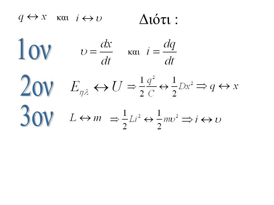Οι εξισώσεις Τ 0 Q ( ή Ι ) -Q ( ή -Ι ) Ποιες είναι οι εξισώσεις φορτίου και ρεύματος ; Δεν είναι σωστό να θεωρήσετε ότι :και