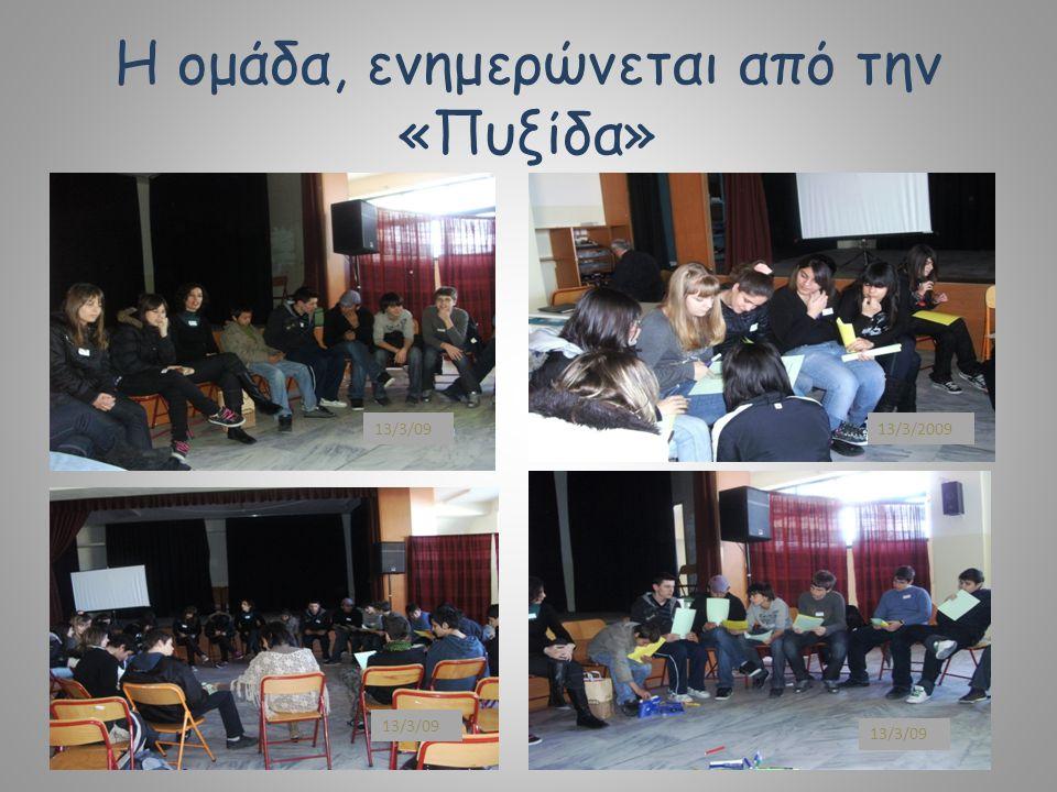 Η ομάδα, ενημερώνεται από την «Πυξίδα» 13/3/09 13/3/2009 13/3/09