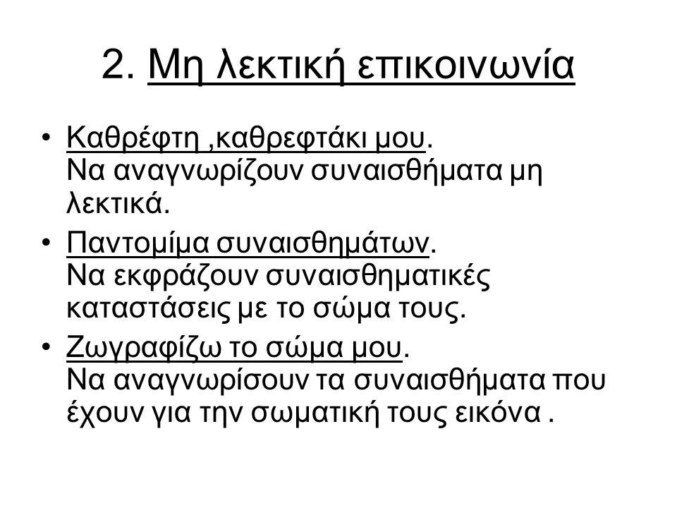 2.Μη λεκτική επικοινωνία Καθρέφτη,καθρεφτάκι μου.