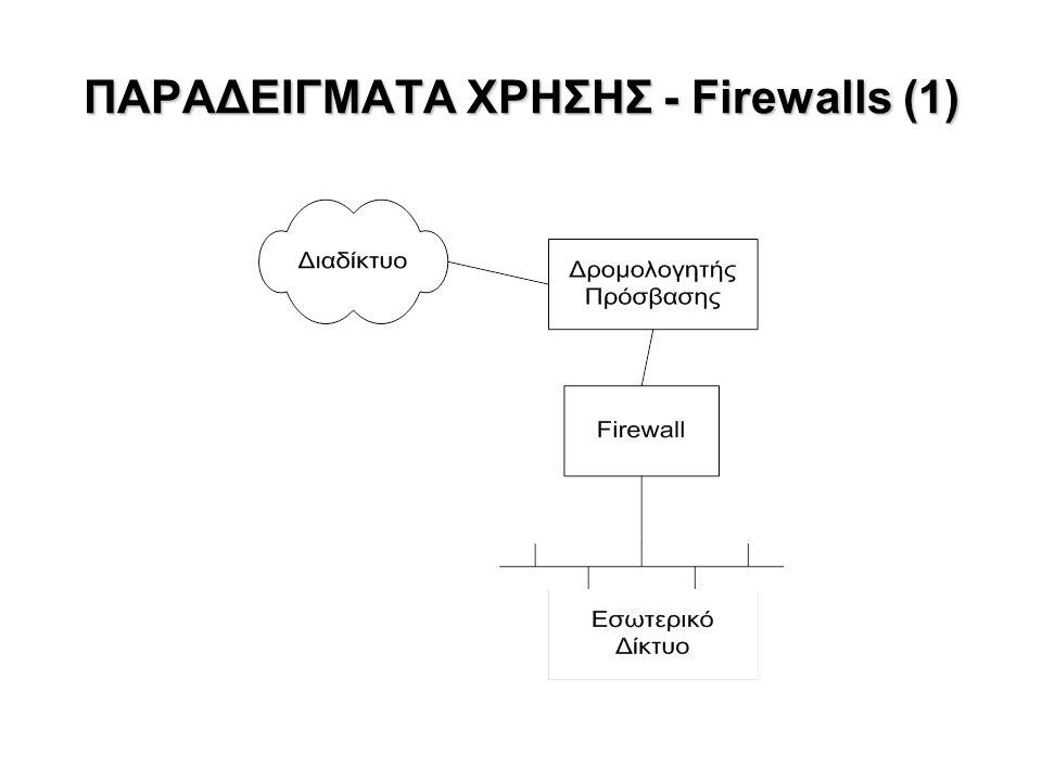 ΠΑΡΑΔΕΙΓΜΑΤΑ ΧΡΗΣΗΣ - Firewalls (1)