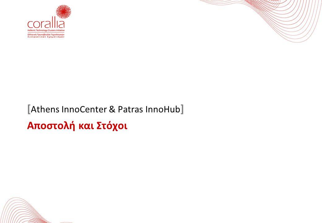 [ Athens InnoCenter & Patras InnoHub ] Αποστολή και Στόχοι