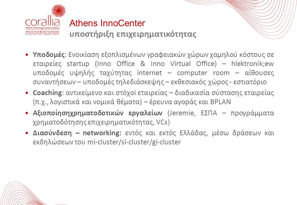 Υποδομές: Ενοικίαση εξοπλισμένων γραφειακών χώρων χαμηλού κόστους σε εταιρείες startup (Inno Office & Inno Virtual Office) – hlektronik;ew υποδομές υψ