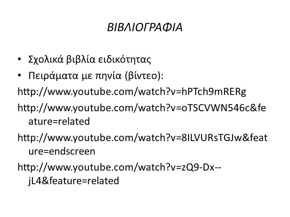 ΒΙΒΛΙΟΓΡΑΦΙΑ Σχολικά βιβλία ειδικότητας Πειράματα με πηνία (βίντεο): http://www.youtube.com/watch?v=hPTch9mRERg http://www.youtube.com/watch?v=oTSCVWN