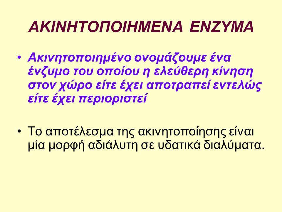 Aς αγνοήσουμε κατ' αρχή την εξωτερική διάχυση Ας θεωρήσουμε επίσης ότι το σωματίδιο που περιέχει το ακινητοποιημένο ένζυμο είναι σφαιρικό.