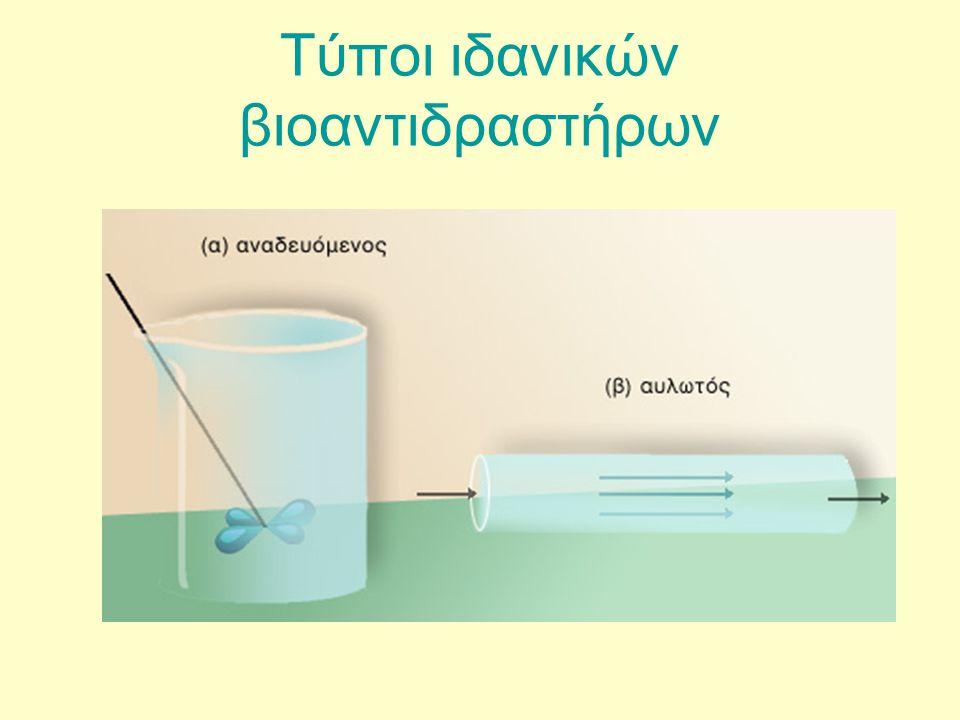 Τύποι ιδανικών βιοαντιδραστήρων