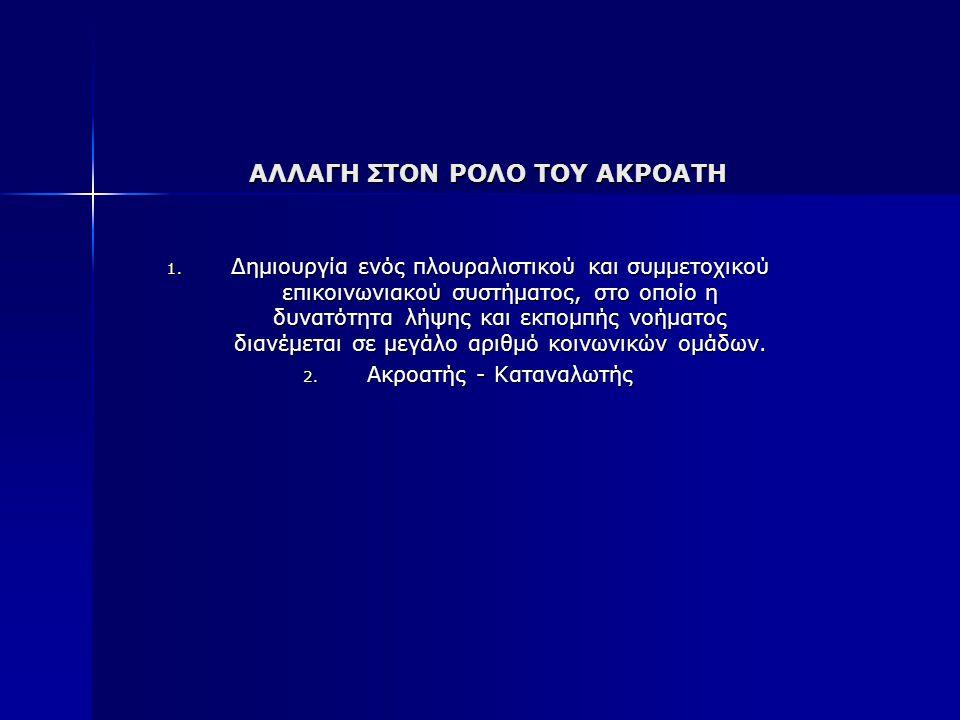ΑΛΛΑΓΗ ΣΤΟΝ ΡΟΛΟ ΤΟΥ ΑΚΡΟΑΤΗ 1.