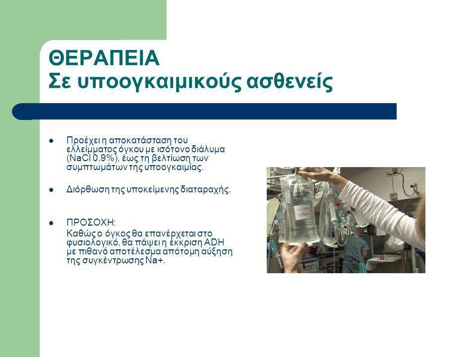 Εξαιρετικά σημαντικό Απαιτείται στενή παρακολούθηση των τιμών Νa+ κατά τη φάση διόρθωσης.