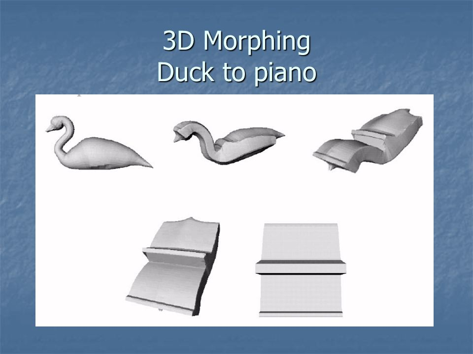 3D Morphing Duck to piano