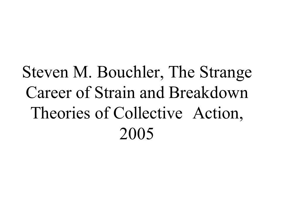 Η θεωρία κινητοποίησης πόρων Τα κοινωνικά κινήματα αναλύονται αυτοτελώς και διαχωρίζονται πλήρως από τις άλλες εκδηλώσεις της συλλογικής συμπεριφοράς.