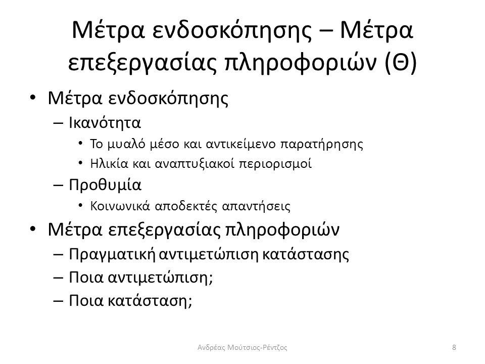 Βασικά στοιχεία της έρευνας: Θεωρία Προτιμήσεις σκέψεις (στυλ) – Πραγματική σκέψη (στρατηγική) Στυλ σκέψης (Sternberg, 1999) : ο προτιμώμενος τρόπος χρήσης και διαχείρισης των ικανοτήτων – Η προτίμηση προς ένα τρόπο διαχείρισης δεν υποδηλώνει την απουσία άλλων τρόπων διαχείρισης.