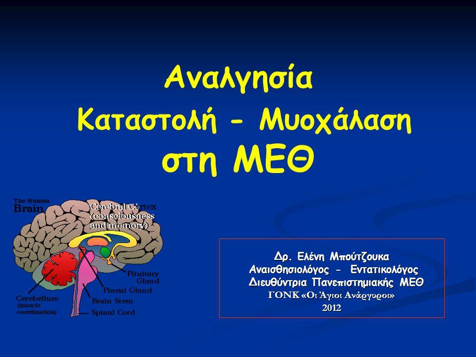 Έλεγχος μυϊκών σπασμών   Τέτανος   Δηλητηριάσεις/τοξικότητα φαρμάκων προσοχή.