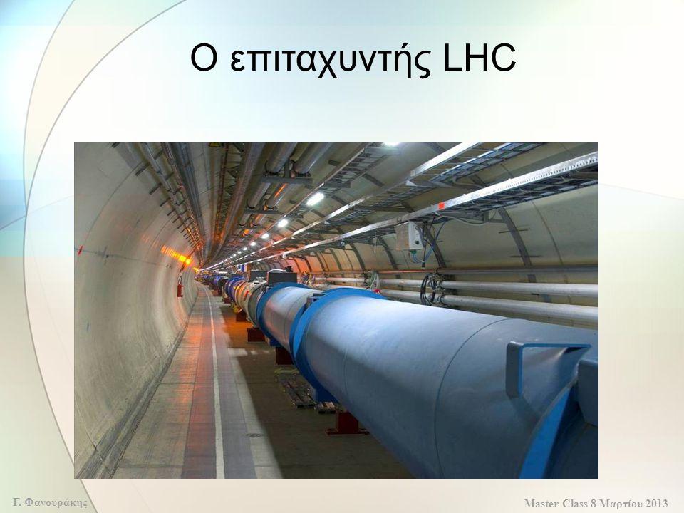Master Class 8 Μαρτίου 2013 Γ. Φανουράκης Ο επιταχυντής LHC