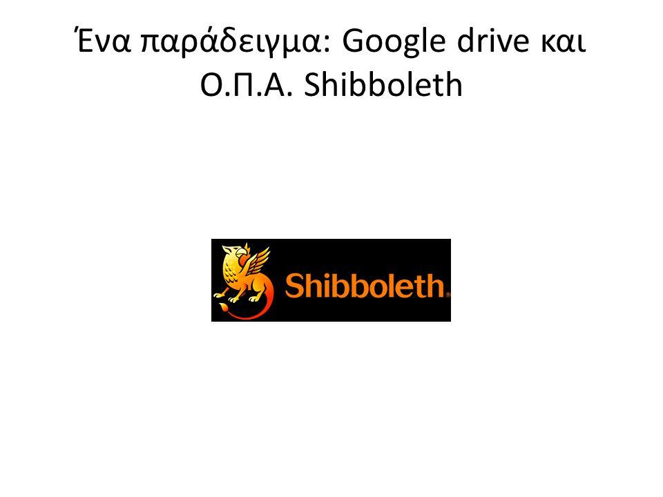 Ένα παράδειγμα: Google drive και Ο.Π.Α. Shibboleth
