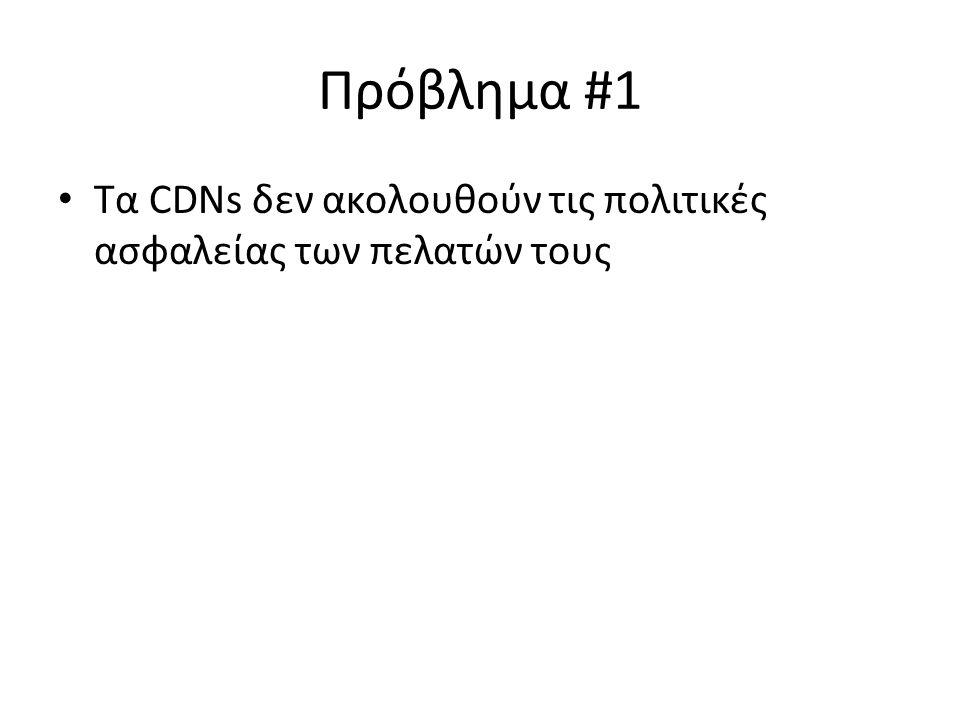 Πρόβλημα #1 Τα CDNs δεν ακολουθούν τις πολιτικές ασφαλείας των πελατών τους