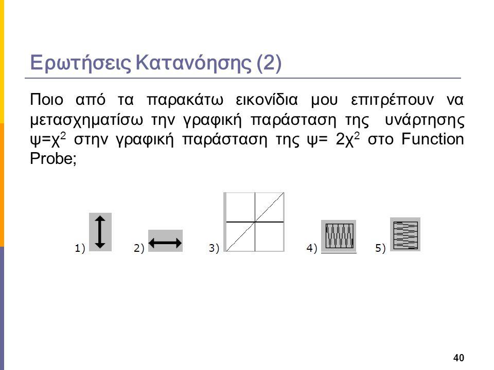 Ποιο από τα παρακάτω εικονίδια μου επιτρέπουν να μετασχηματίσω την γραφική παράσταση της υνάρτησης ψ=χ 2 στην γραφική παράσταση της ψ= 2χ 2 στο Functi