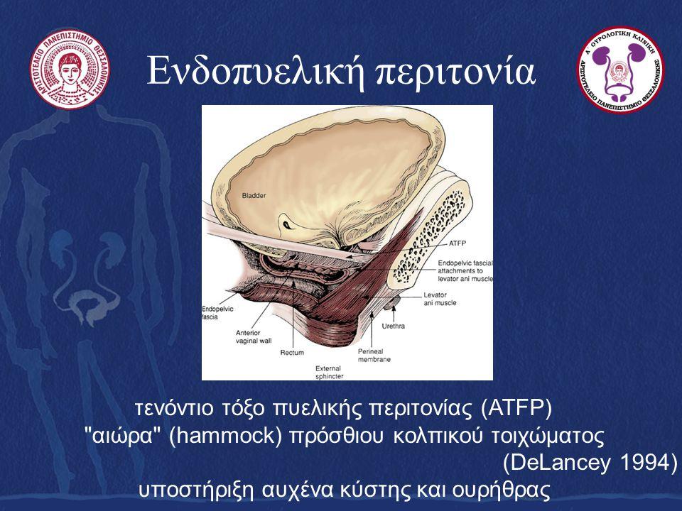 Ενδοπυελική περιτονία τενόντιο τόξο πυελικής περιτονίας (ATFP)