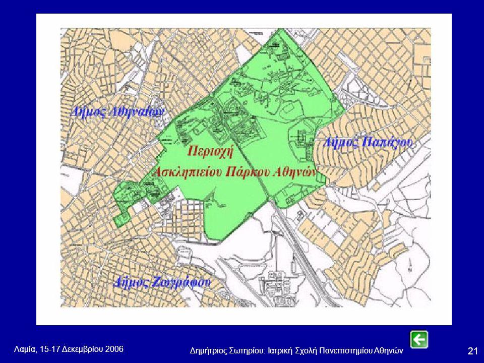 Λαμία, 15-17 Δεκεμβρίου 2006 Δημήτριος Σωτηρίου: Ιατρική Σχολή Πανεπιστημίου Αθηνών 21