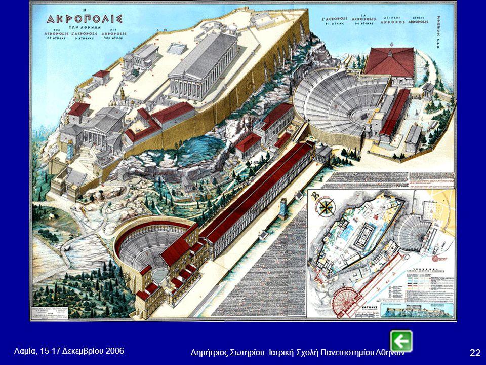 Λαμία, 15-17 Δεκεμβρίου 2006 Δημήτριος Σωτηρίου: Ιατρική Σχολή Πανεπιστημίου Αθηνών 22