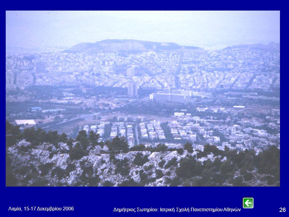 Λαμία, 15-17 Δεκεμβρίου 2006 Δημήτριος Σωτηρίου: Ιατρική Σχολή Πανεπιστημίου Αθηνών 26