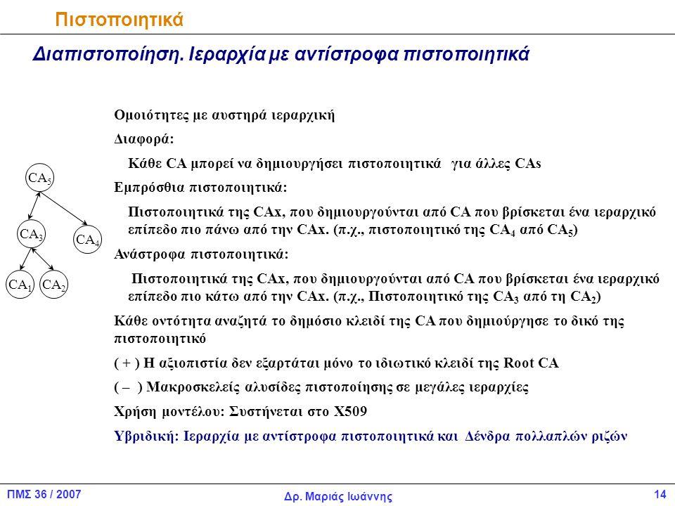 14ΠΜΣ 36 / 2007 Δρ.