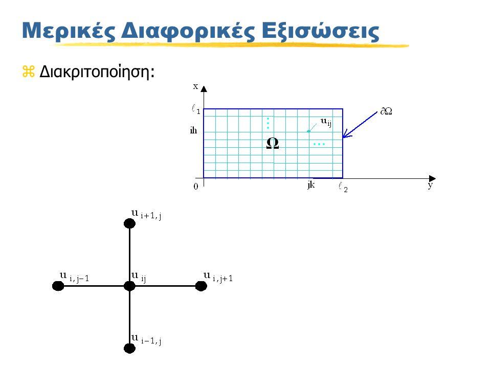 Μερικές Διαφορικές Εξισώσεις zΔιακριτοποίηση: