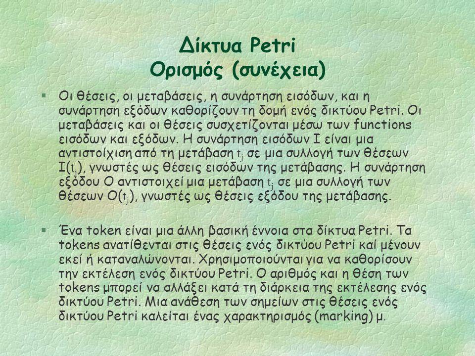 Δίκτυα Petri Ένα παράδειγμα