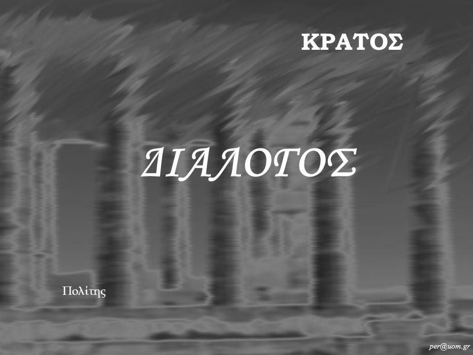 ΔΙΑΛΟΓΟΣ per@uom.gr ΚΡΑΤΟΣ Πολίτης