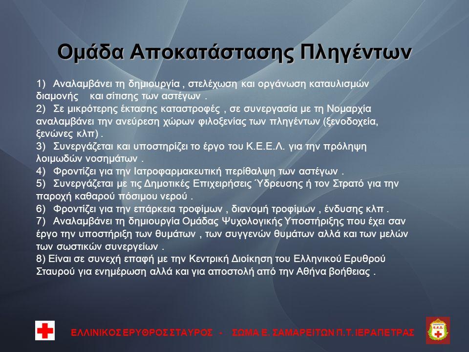 Ομάδα Αποκατάστασης Πληγέντων ΕΛΛΙΝΙΚΟΣ ΕΡΥΘΡΟΣ ΣΤΑΥΡΟΣ - ΣΩΜΑ Ε.